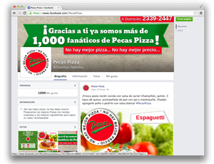 Facebook Pecas Pizza